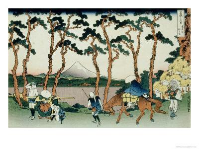 36 Views of Mount Fuji, no. 36: Hodogaya on the Tokaido