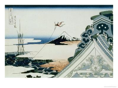 36 Views of Mount Fuji, no. 11: Asakusa Honganji Temple in the Eastern Capital