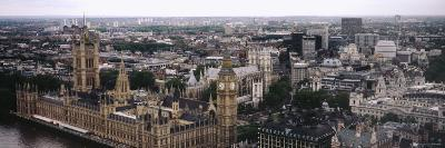 Aerial View of Big Ben, Houses of Westminster, London, England