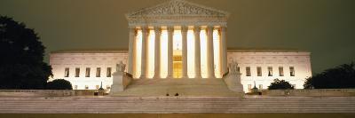 Supreme Court Building Illuminated at Night, Washington DC, USA