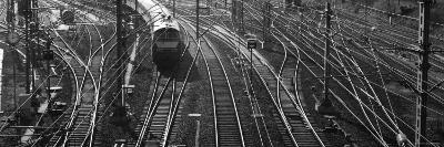 Train on Railroad Track in a Shunting Yard, Germany