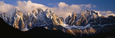 Snowcapped Mountain Peaks, Dolomites, Italy