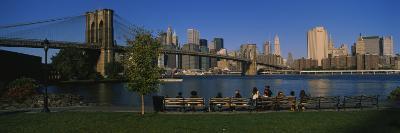 Brooklyn Bridge Park, Brooklyn Bridge, East River, Manhattan, New York City, New York, USA