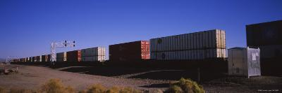Cargo Containers on a Freight Train, California, USA