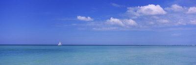 Sailboat in the Sea, Coquina Beach, Anna Maria Island, Manatee, Florida, USA