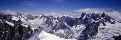 Mountain Range, Mt Blanc, the Alps, France