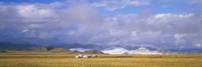 Yurts on a Landscape, Uvurkhangai Aimag, Independent Mongolia