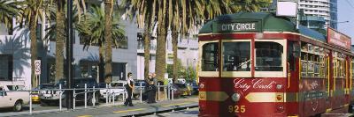 Cable Car Along a Road, City Circle Tram, Harbor Esplanade, Melbourne, Victoria, Australia