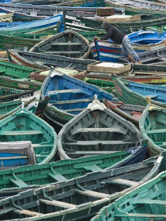 Fishing Boats in Harbour, Safi, Atlantic Coast, Morocco