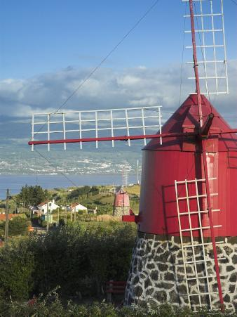 Traditional Windmill, Faial Island, Azores, Portugal