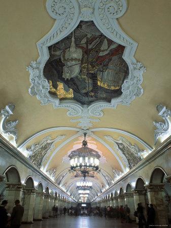 Komsomolskaja Metro, Moscow, Russia