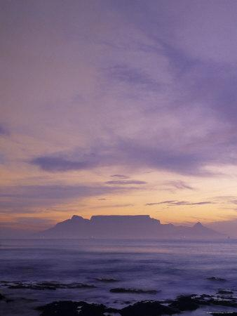 Table Mountain and Cape Town Fr. Bloubergstrand, South Africa