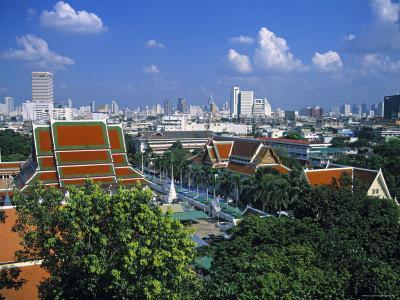 Wat Saket from Golden Mount, Bangkok, Thailand