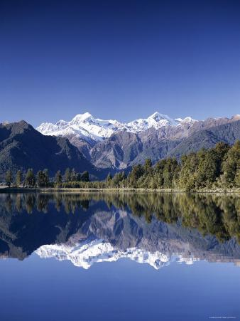 Lake Matheson and Mt.Cook, South Island, New Zealand