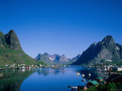 Typical Scenery, Mountains and Sea, Reine, Lofoten Islands, Norway