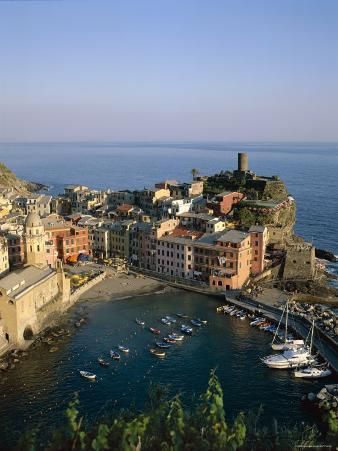 Cinque Terre, Coastal View and Village, Vernazza, Liguria, Italy