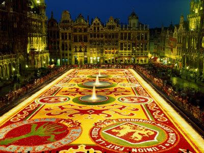 Grand Place, Floral Carpet, Brussels, Belgium