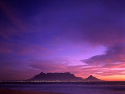 Table Mountain, Sunset, Cape Town, South Africa