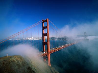 Golden Gate Bridge with Mist and Fog, San Francisco, California, USA