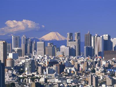 Mt.Fuji and Tokyo Shinjuku Area Skyline, Tokyo, Japan