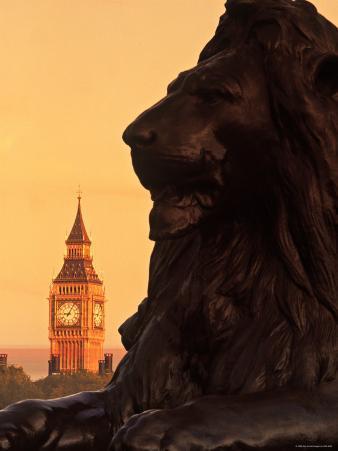 Big Ben from Trafalgar Sq. London, England