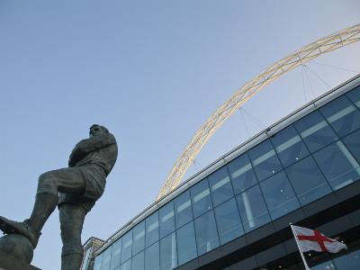 Bobby Moore Statue at Wembley Stadium, Brent, London, England
