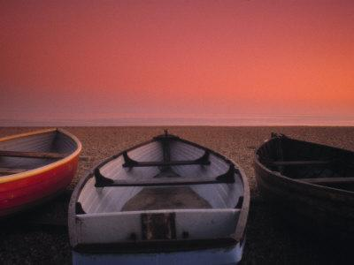 Boats on the beach, Brighton, East Sussex, England