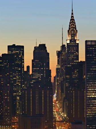 42nd Street and Chrysler Bldg, New York, USA