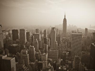 Manhattan Skyline Including Empire State Building, New York City, USA