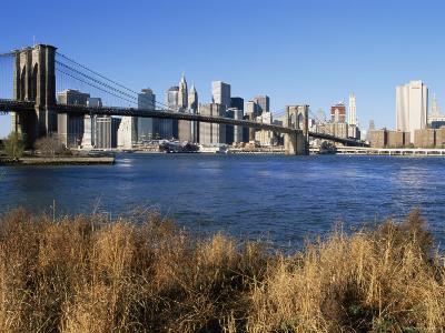 Brooklyn Bridge and Manhattan, New York City, USA