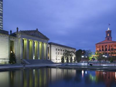 State Capitol and War Memorial Auditorium, Nashville, Tennessee, USA