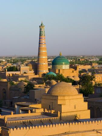 View over Old Town of Khiva, Uzbekistan