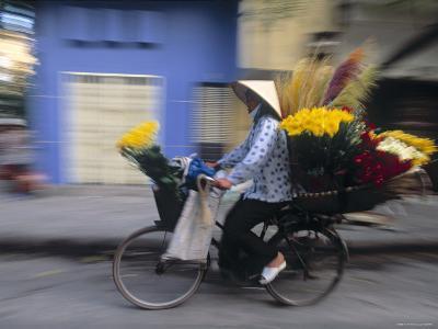 Woman on Bike, Hanoi, Vietnam