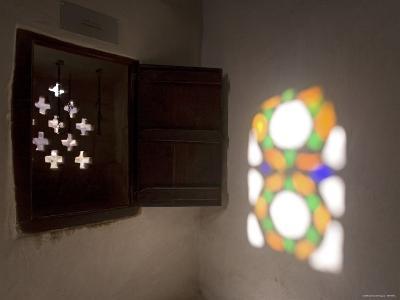 Stained Glass Windows, Dar Al Hajar, Wadi Dhar, Yemen