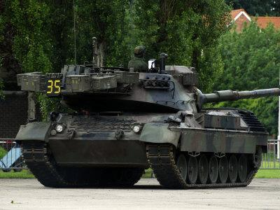 The Leopard 1A5 MBT of the Belgian Army in Action