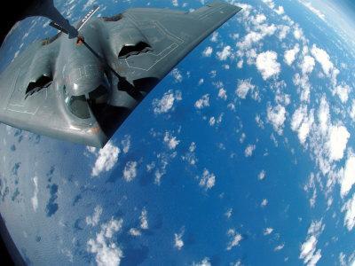KC-135 Stratotanker Refuels B-2 Spirit