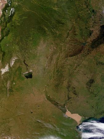 Satellite View of Argentina