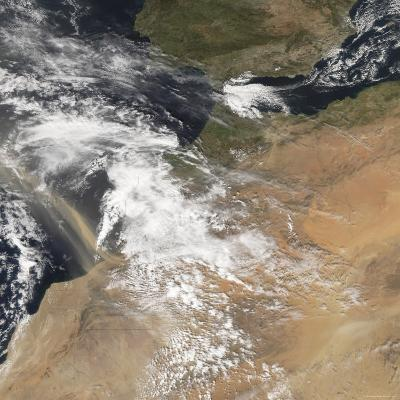 Dust Plumes Blowing Off the Moroccan Coast