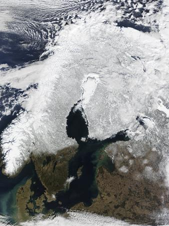 Satellite View of Scandinavia