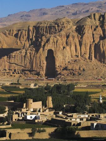 Cliffs with Empty Niche Where the Famous Carved Buddha Once Stood, Afghanistan, Bamiyan Province,