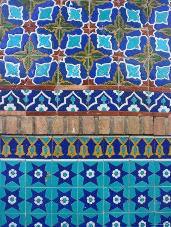 Detail of Tilework, Shrine of Hazrat Ali, Mazar-I-Sharif, Afghanistan