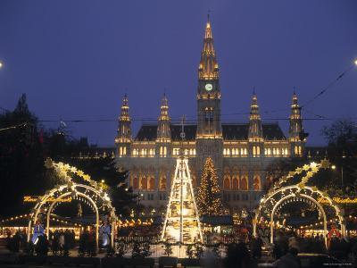 Rathaus at Christmas, Vienna, Austria