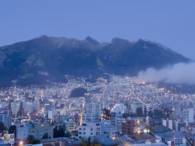 Pichincha Volcano and Quito Skyline, Ecuador