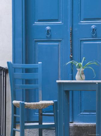 Blue Door, Venetian Quarter, Hania, Hania Province, Crete, Greece