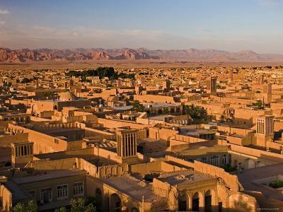 Panorama of Yazd with Its Windtowers, Yazd, Iran