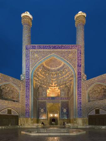 The Entrance Gate to Imam Mosque, Isfahan, Iran