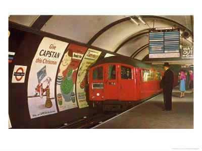 1960's Tube Train in Piccadilly Circus Station
