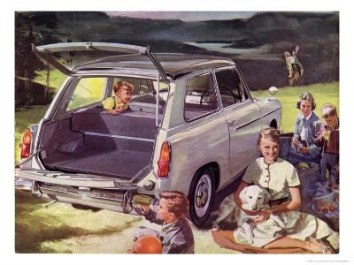 Austin A40 at Family Picnic