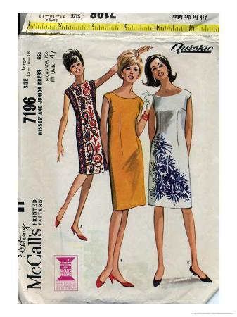 McCalls Misses and Junior Dress