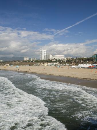 Shorefront from Santa Monica Pier, Santa Monica, Los Angeles, California
